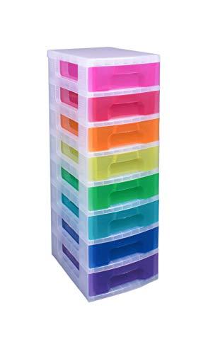 8x 7-Liter-Schubladen, die stapelbar sind und in verschiedenen Farben vorkommen von Really Useful