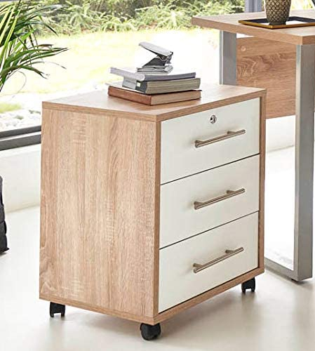 Holz Rollcontainer im Home Office