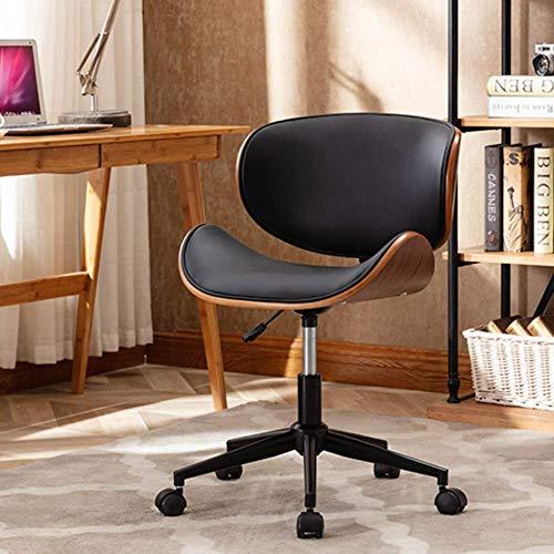 Mingone Massivholz Advanced Computer Chair Europäischer Studentenstuhl Büro Schreibtischstühle Freizeit Rücken Drehstuhl Einfacher Hebestuhl,Schwarz