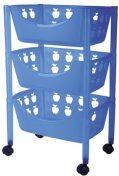 Big Badezimmer Trolley / Badezimmer Rollwagen Kunststoff in verschiedenen Farben (blau)