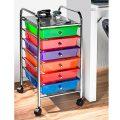 Multi-Rollwagen Servierwagen Rollcontainer Küche Büro Beistellwagen Büromöbel Schubladenwagen