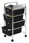Premier Housewares Trolley-Regal, 4 Schubladen, Chrom-Rahmen, 81 x 39 x 33 cm,...