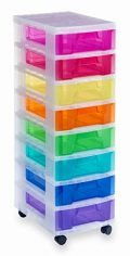 Really Useful rup633468x 7-litres Tower Schubladen, verschiedene Farbe