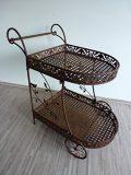 Servierwagen Teewagen Beistelltisch Rollwagen Küchenwagen Tisch Metall WK080284