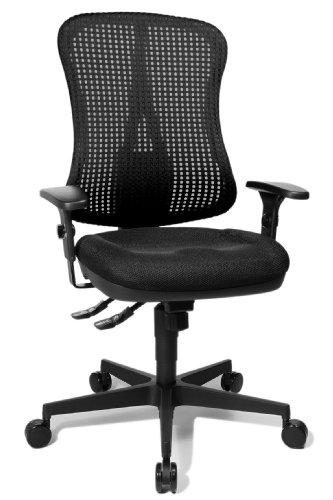 """Topstar HE20PBC00 Head Point SY """"P4"""", ergonomischer Bürostuhl, Schreibtischstuhl, Muldensitz, inkl. Armlehnen, Netzrücken, Stoffbezug schwarz"""